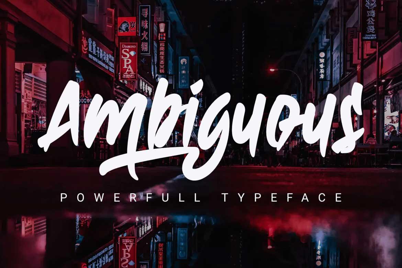 Ambiguous Font