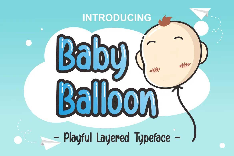 Baby Balloon Font