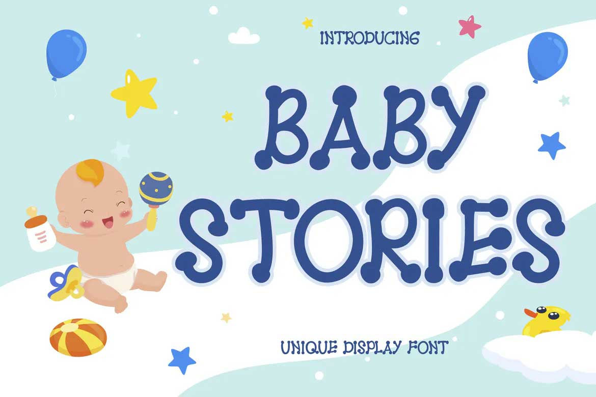 Baby Stories Font