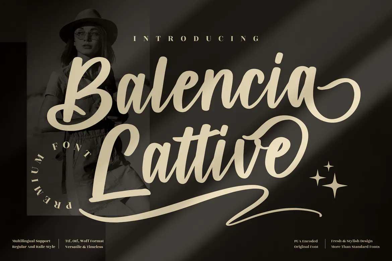 Balencia Lattive Font