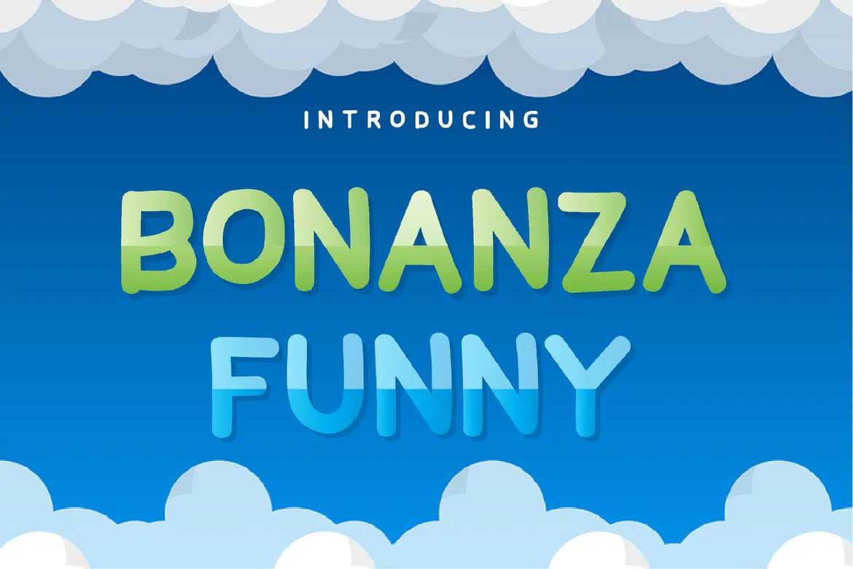 Bonanza Funny Font