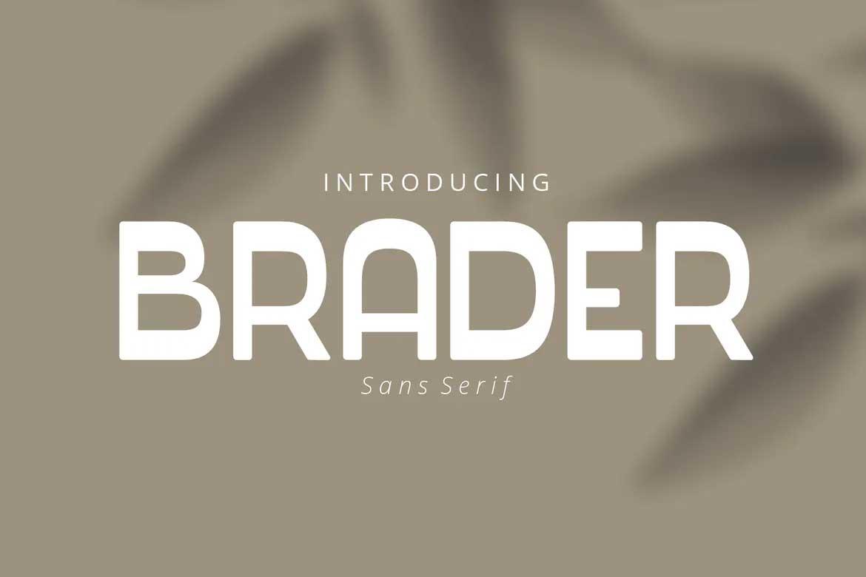 Brader Font