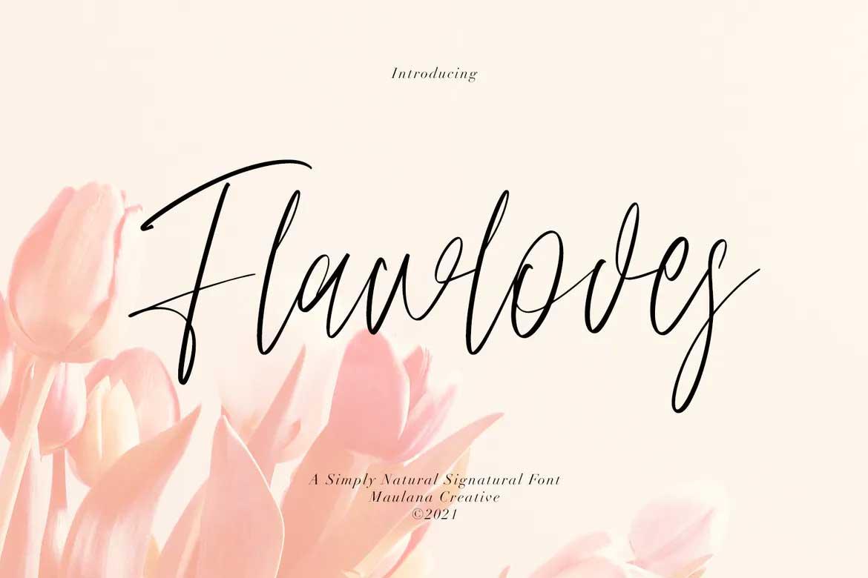 Flawloves Font