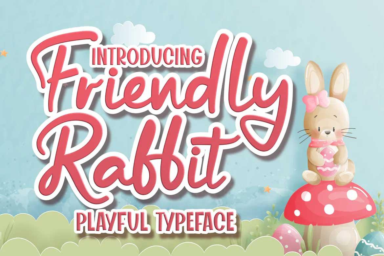 Friendly Rabbit Font