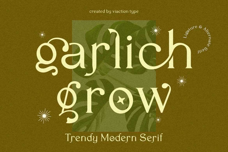 Garlich Grow Font