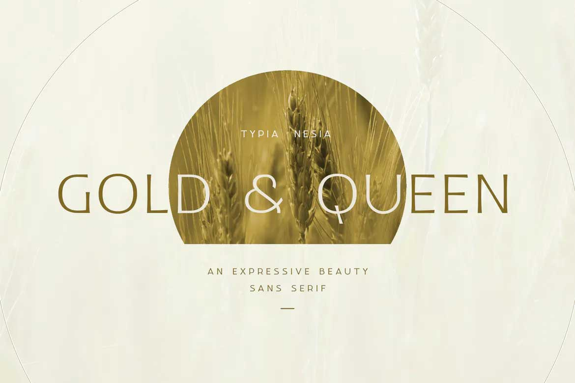 Gold and Queen Font