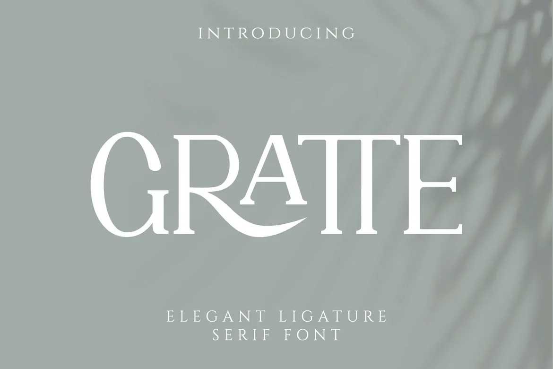 Gratte Font
