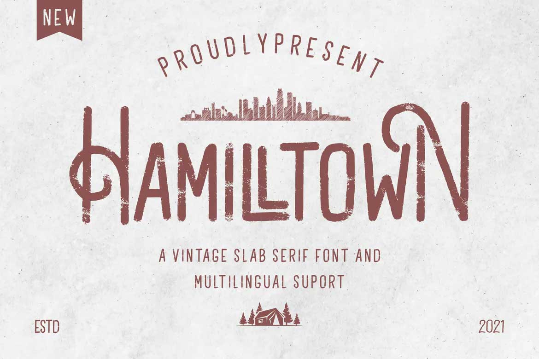 Hamilltown Font