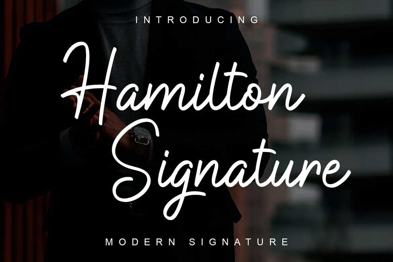Hamilton Signature Font