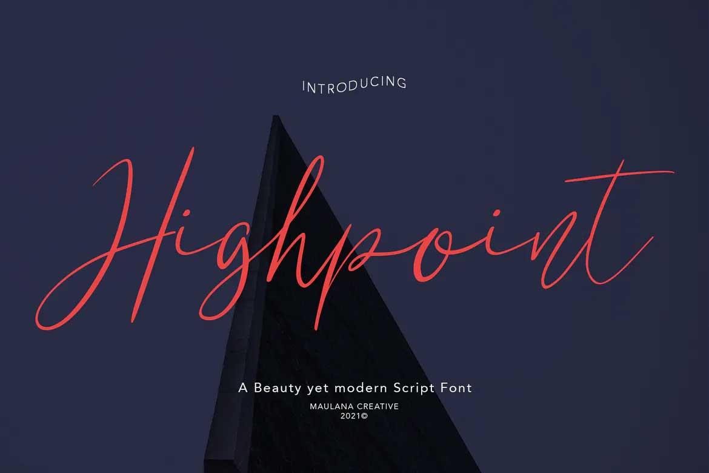 Highpoint Font