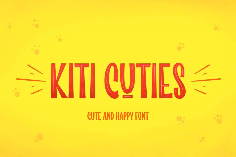 Kiti Cuties Font