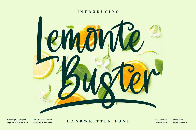 Lemonte Buster Font