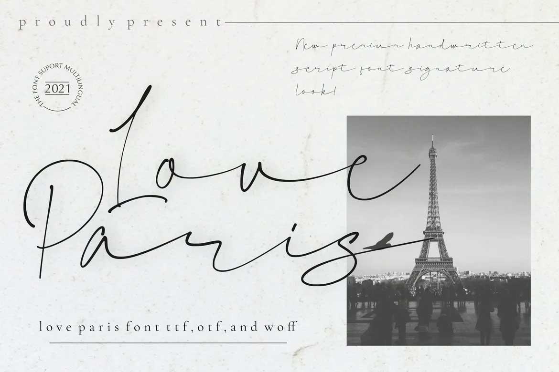 Love Paris Font