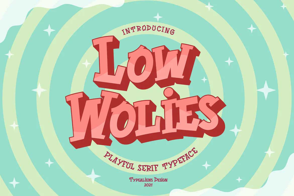 Low Wolies Font