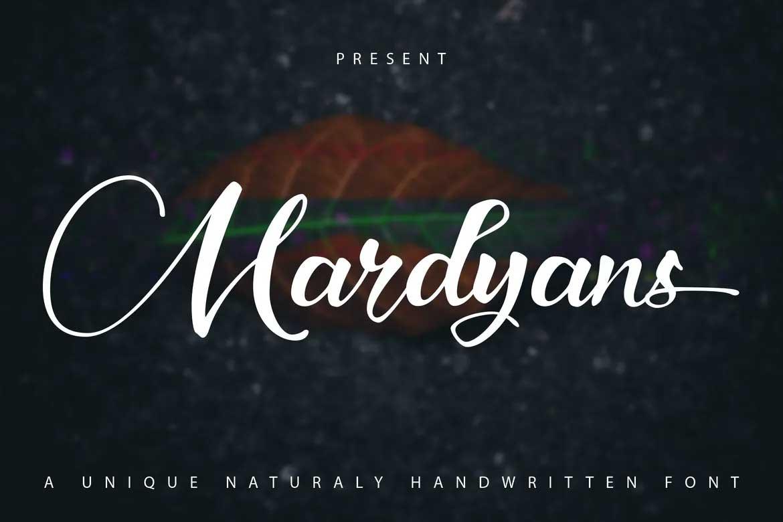 Mardyans Font