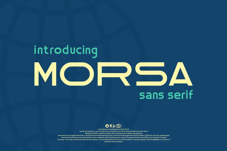 Morsa Font