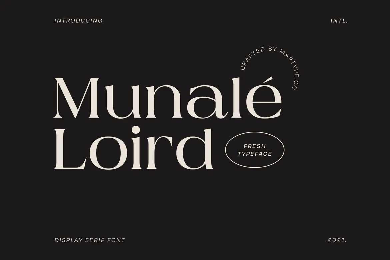 Munale Loird Font