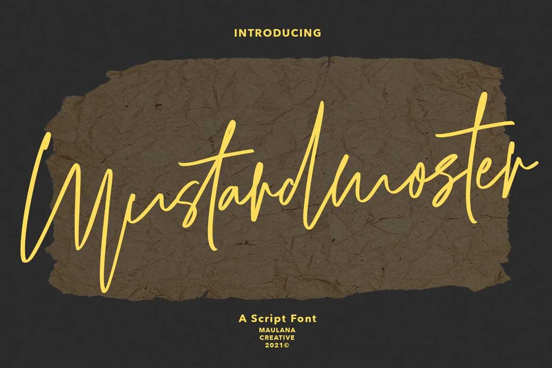 Mustardmoster Script Font
