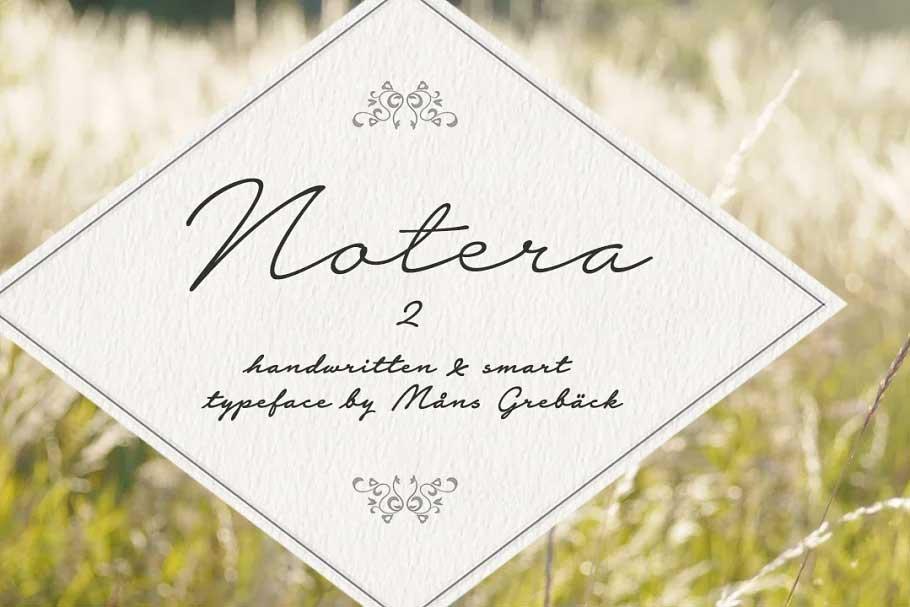 Notera 2 Font