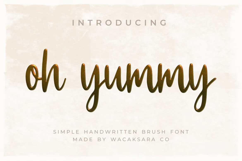 Oh Yummy Font