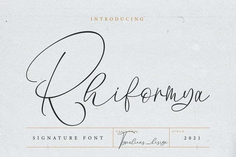 Rhiformya Font