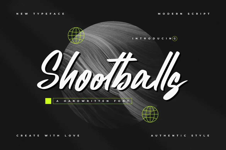Shootballs Font