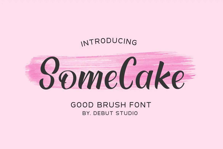 Some Cake Font