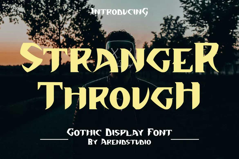 Stranger Through Font