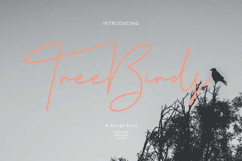 Treebirds Font