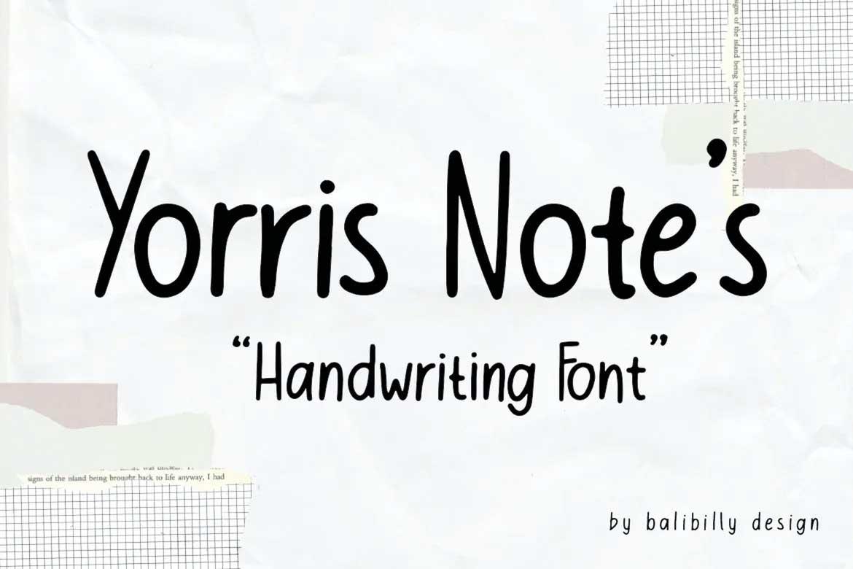 Yorris Note's Font