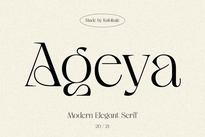 Ageya Font