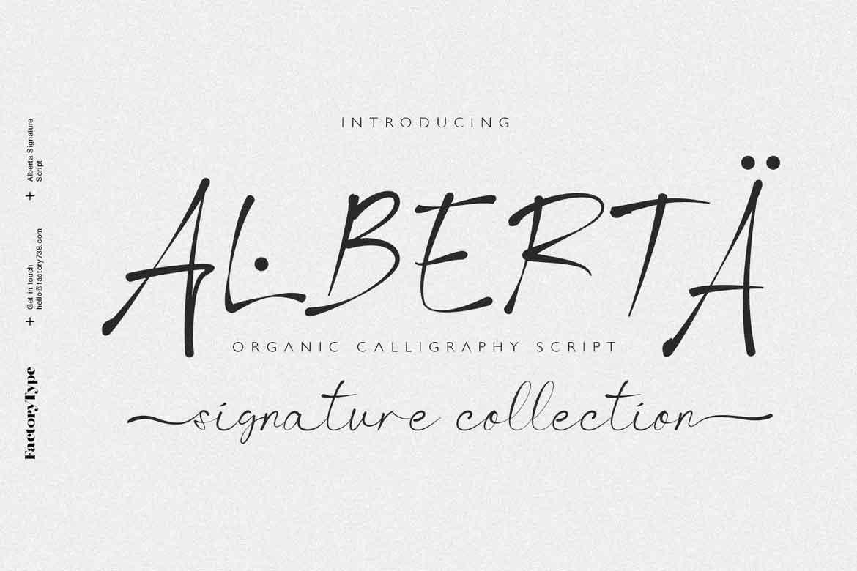 Alberta Signature Script