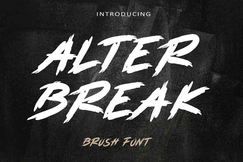 Alterbreak Font