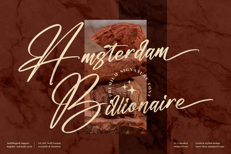 Amsterdam Billionaire Font
