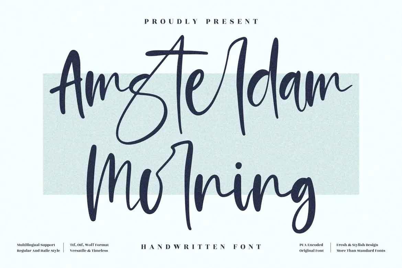 Amsterdam Morning Font