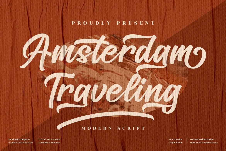 Amsterdam Traveling Font