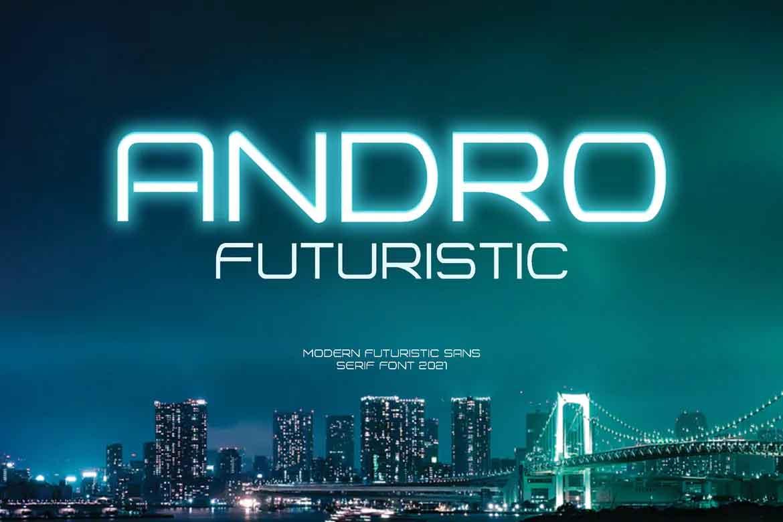 Andro Futuristic Font