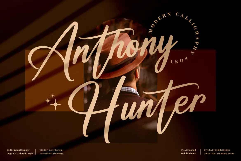 Anthony Hunter Font