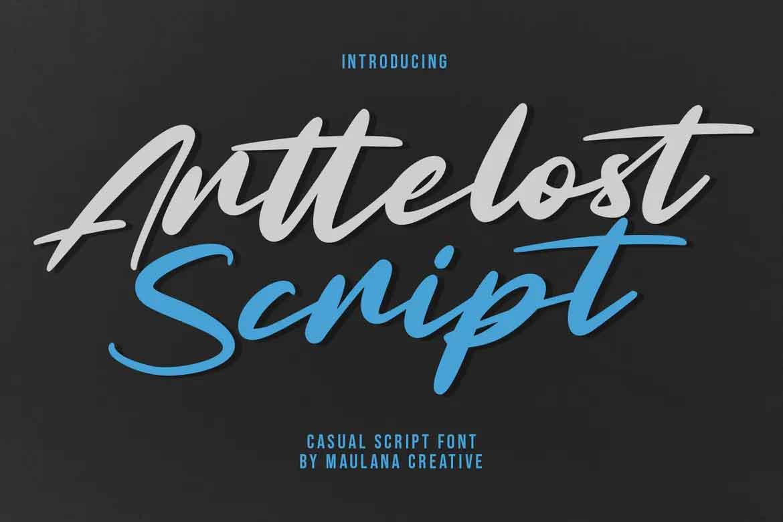 Arttelost Script Font