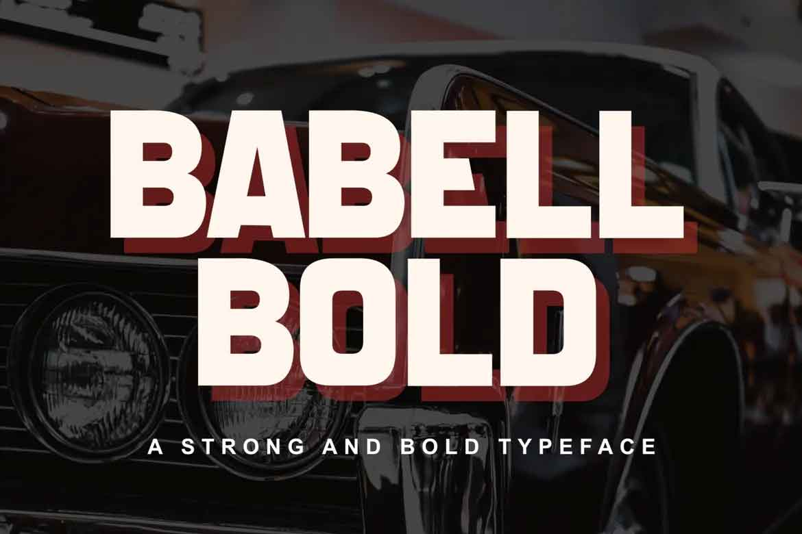 Babell Bold Font