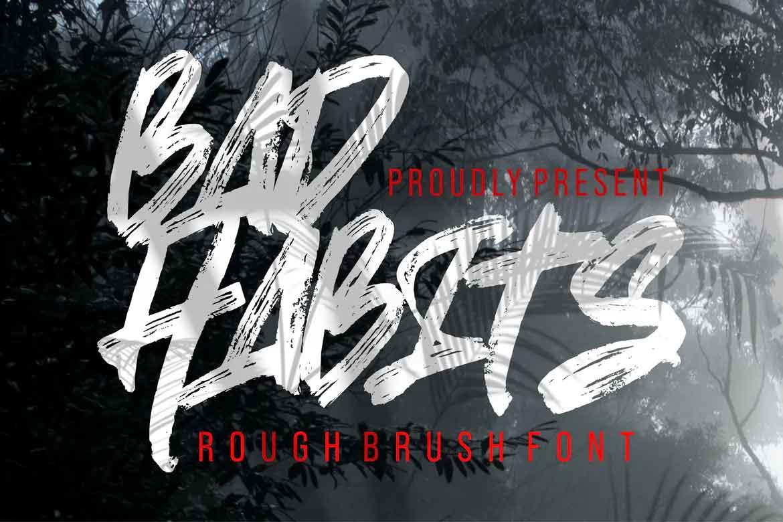 Bad Habits Font