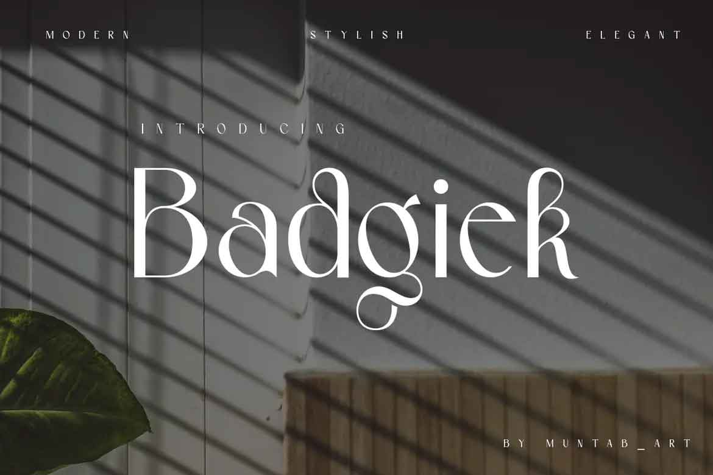 Badgiek Font