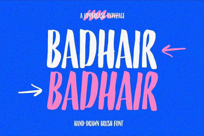 Badhair Font