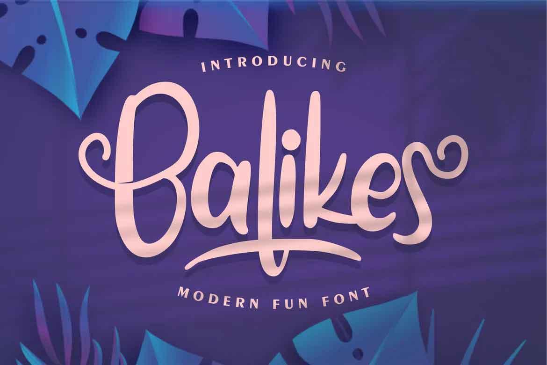 Balikes Font