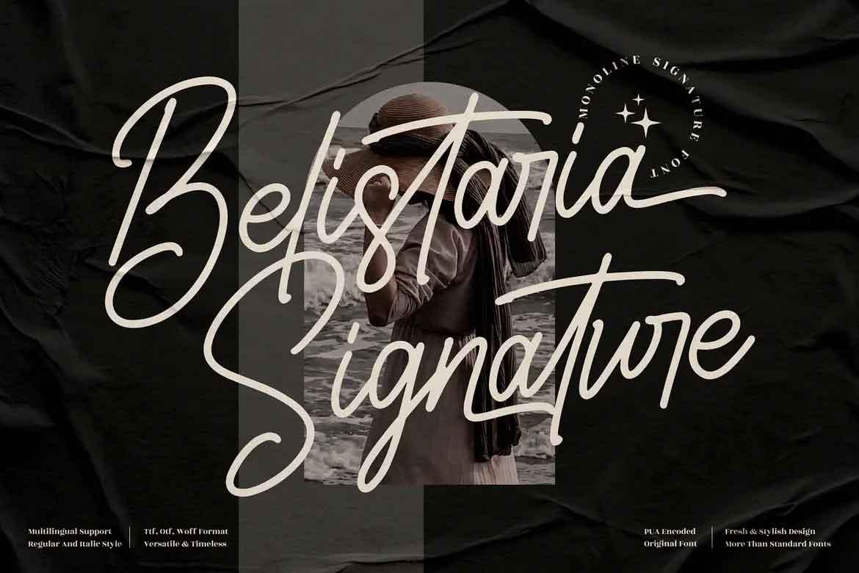 Belistaria Signature Font