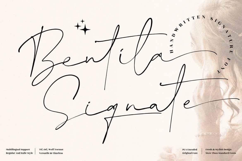 Bentila Signate Font