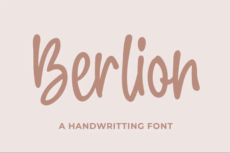 Berlion Font