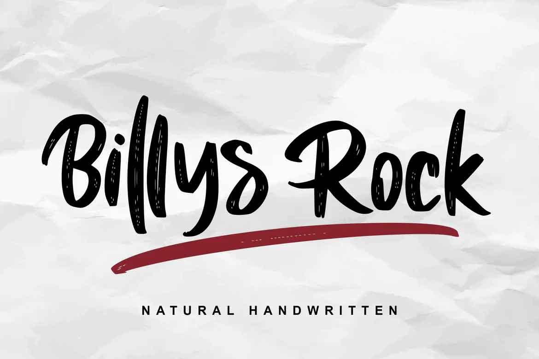 Billys Rock Font