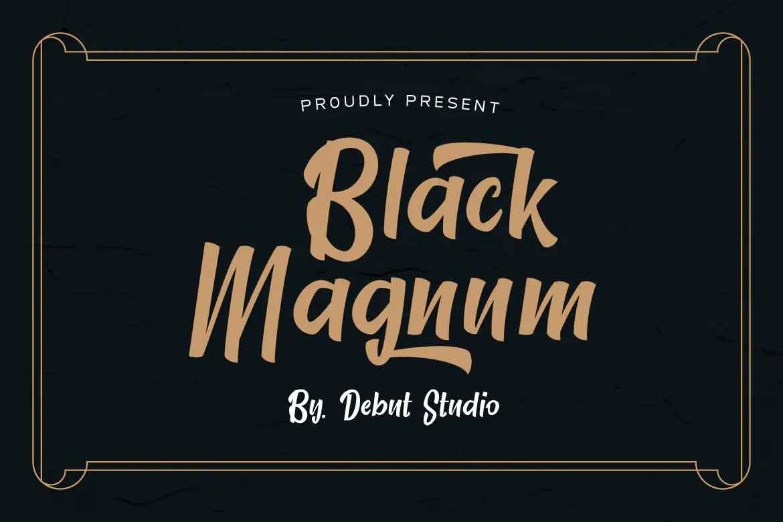 Black Magnum Font