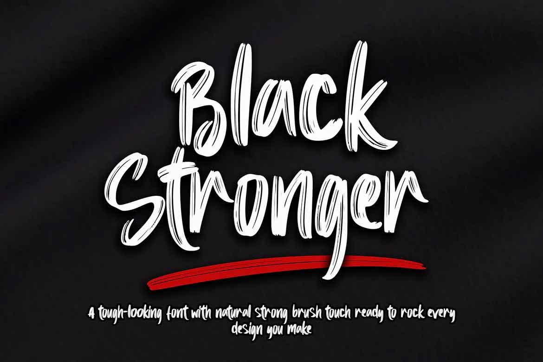 Black Stronger Font